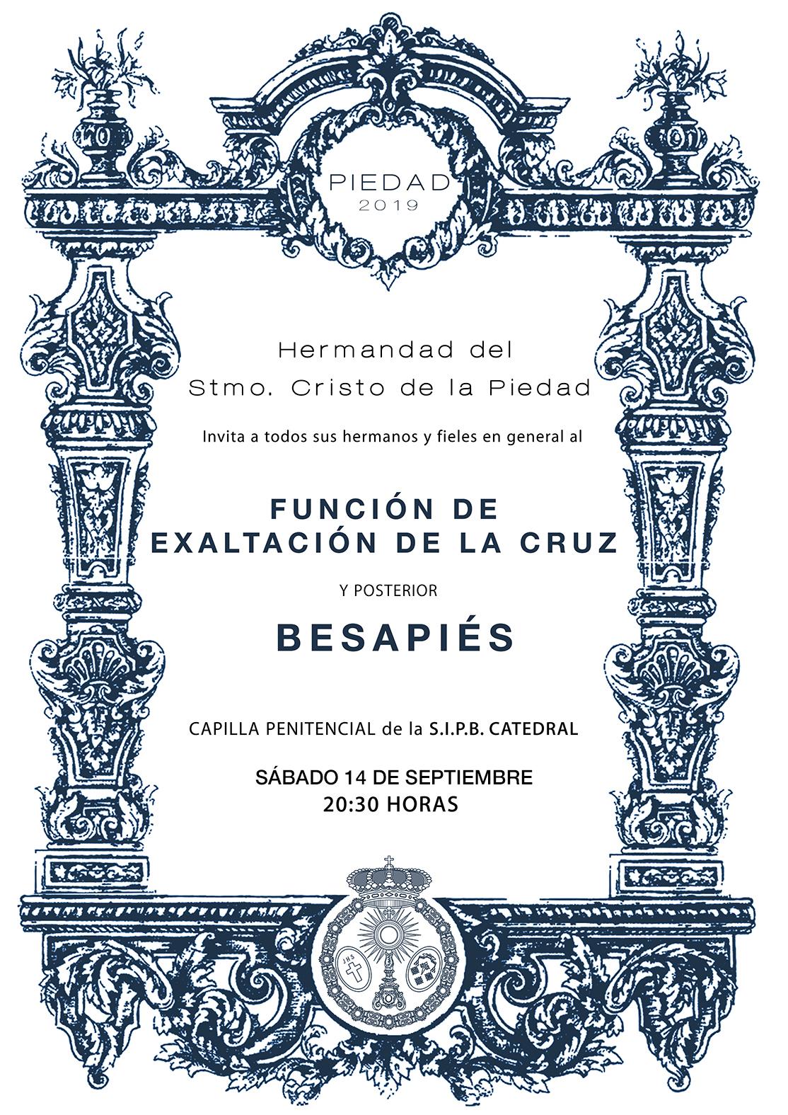 EXALTACIÓN DE LA CRUZ Y BESAPIÉS